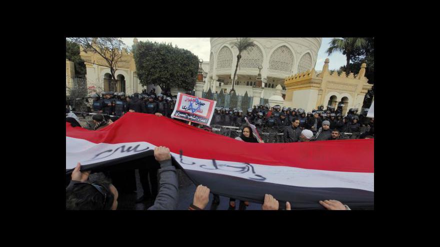 Video Protesty v Egyptě pokračují