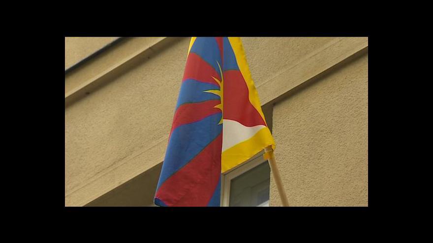 Video Kristina Vrkočová o tibetské vlajce v Táboře