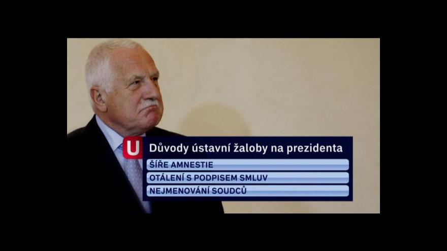 Video Žaloba pro velezradu tématem Událostí