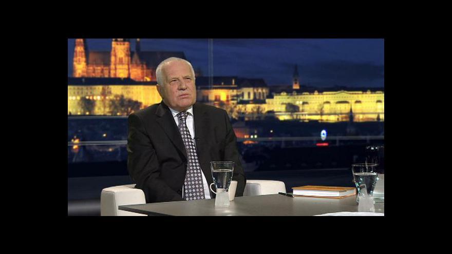 Video Rozhovor pro ČT: Václav Klaus -10 let prezidentem ČR