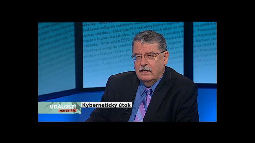 Video Rozhovor s Dušanem Navrátilem v Událostech, komentářích