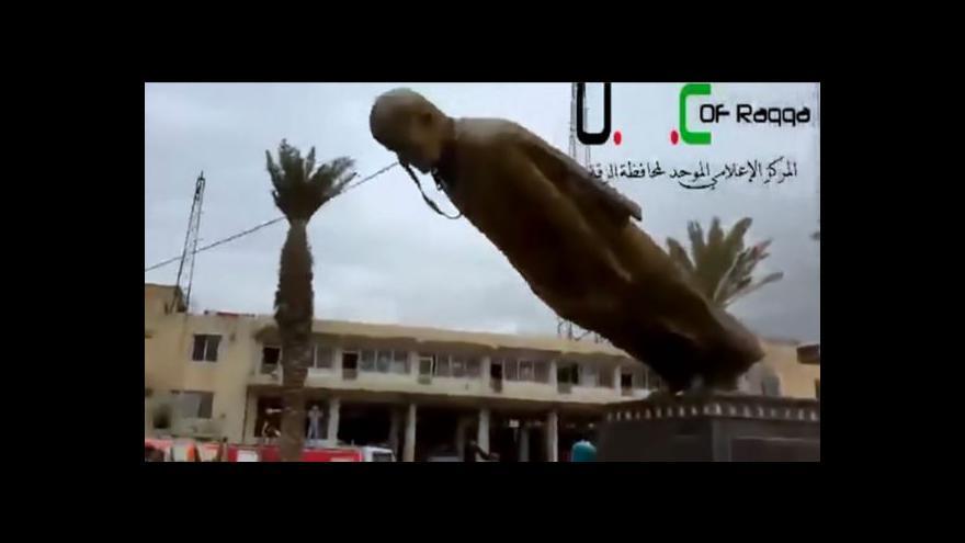 Video Stržení sochy Háfize Asada