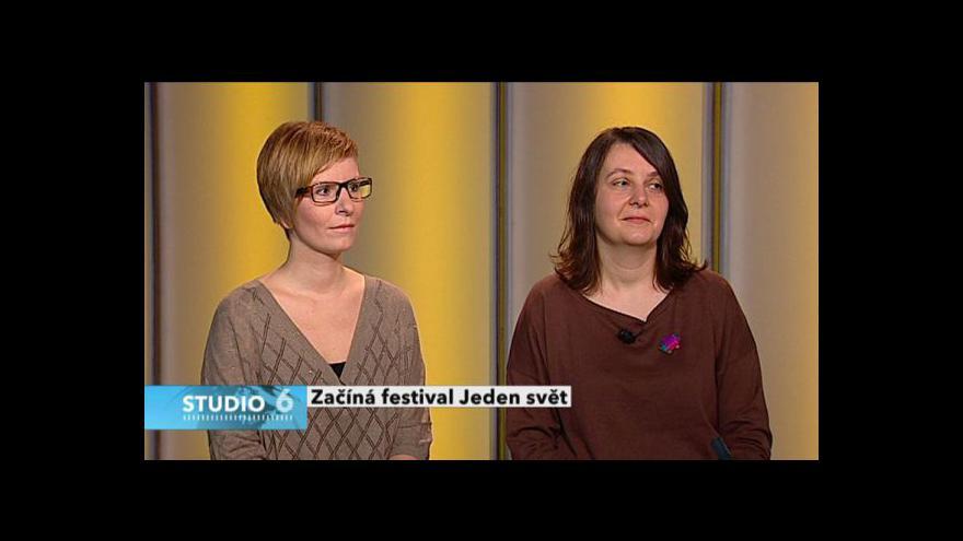Video Hana Kulhánková a Bohdana Rambousková ve Studiu 6