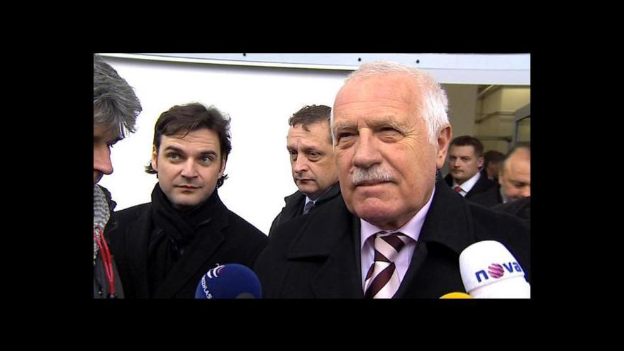 Video Klaus znovu vysvětloval amnestii
