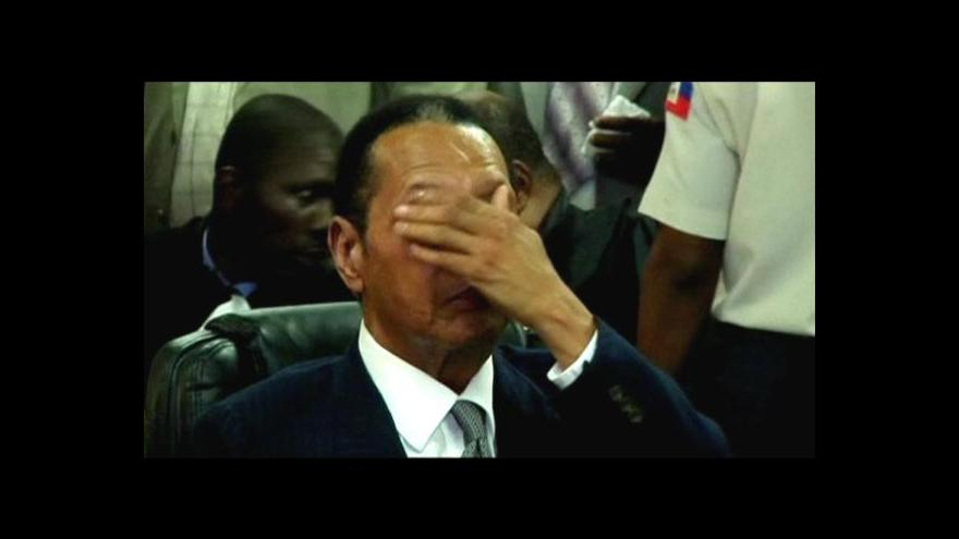 Video Duvalier poprvé u soudu