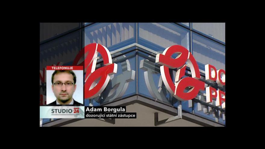 Video Vyjádření dozorujícího žalobce Adama Borguly