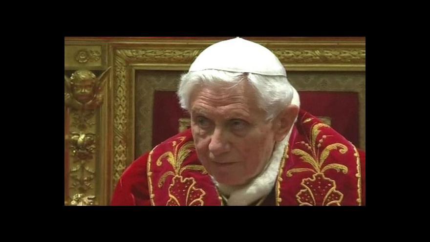 Video Papež se připravuje na odjezd z Vatikánu