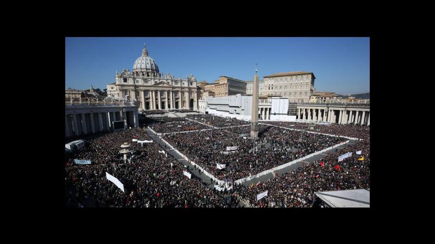 Video Poslední generální audience papeže Benedikta XVI.