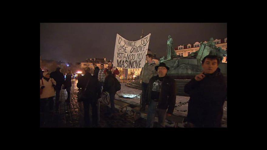 Video Výročí komunistického puče a jeho dozvuk v ulicích Prahy