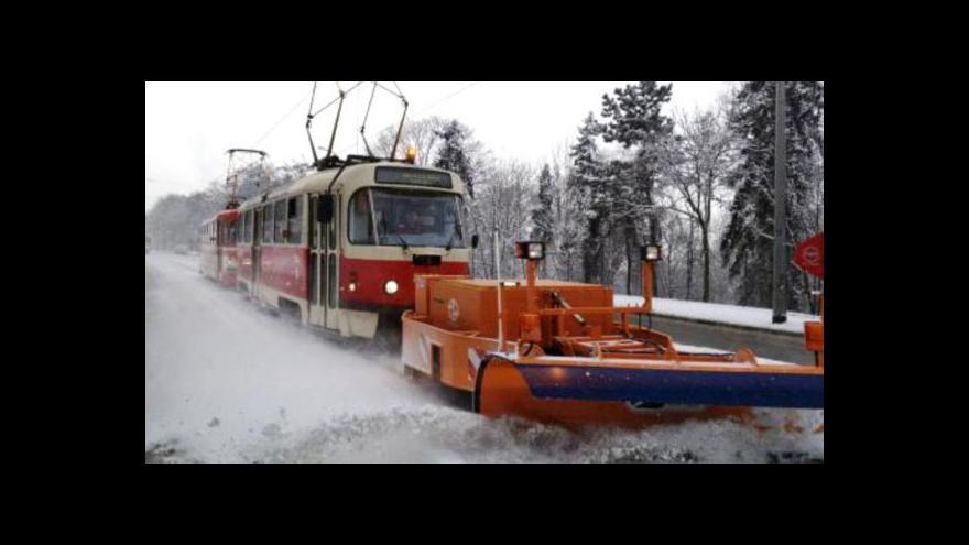 Video Sněhová situace v Praze