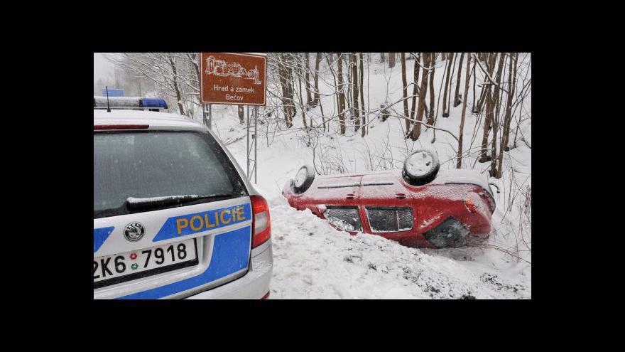Video Hrozí nebezpečí padajícího sněhu ze střech