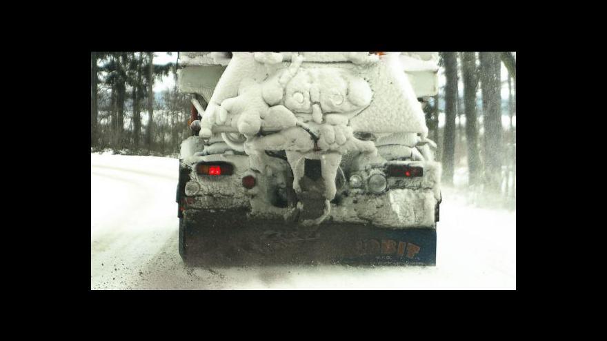 Video Česko zasáhla sněhová kalamita
