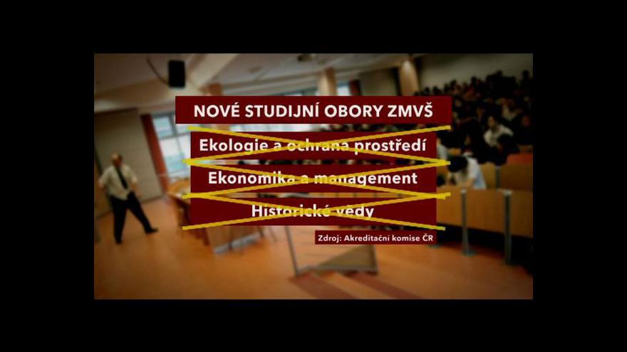 Video Akreditační komise neschválila žádný z nových oborů vysoké školy v Třebíči