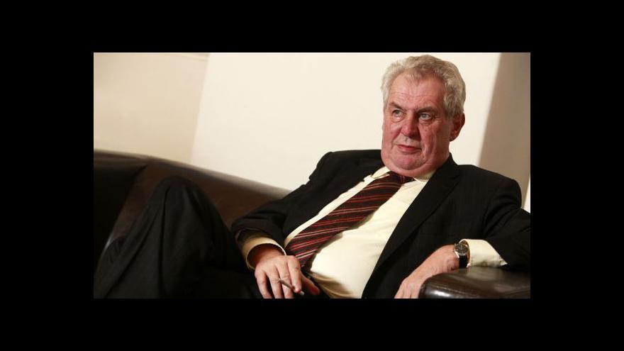 Video Reportáž Štěpánky Martanové o schůzkách Miloše Zemana