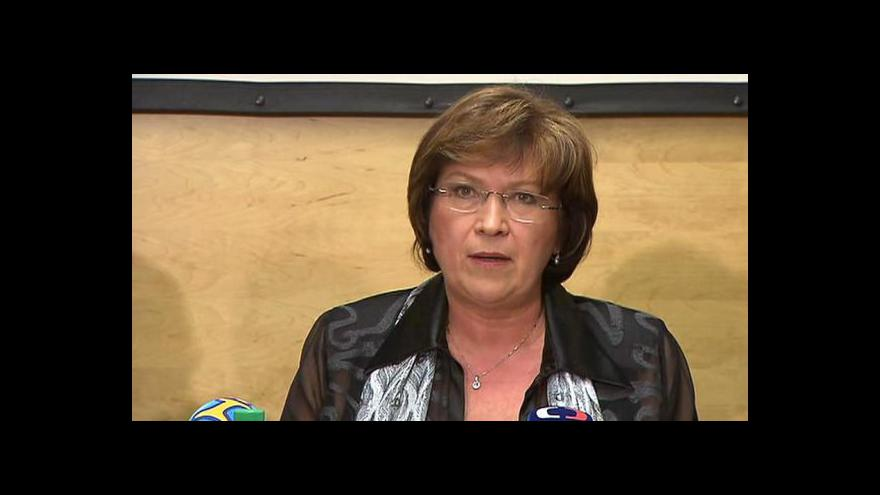 Video Brífink ministryně práce Ludmily Müllerové