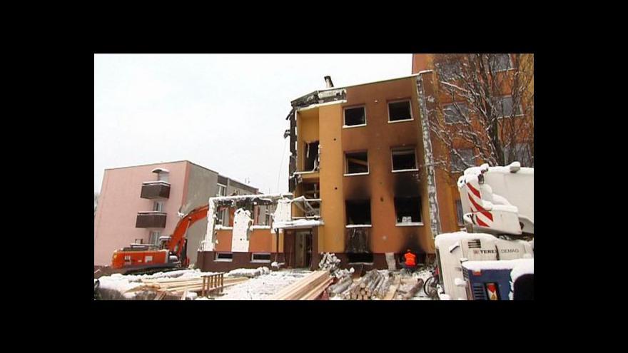 Video Frenštát tři dny po výbuchu