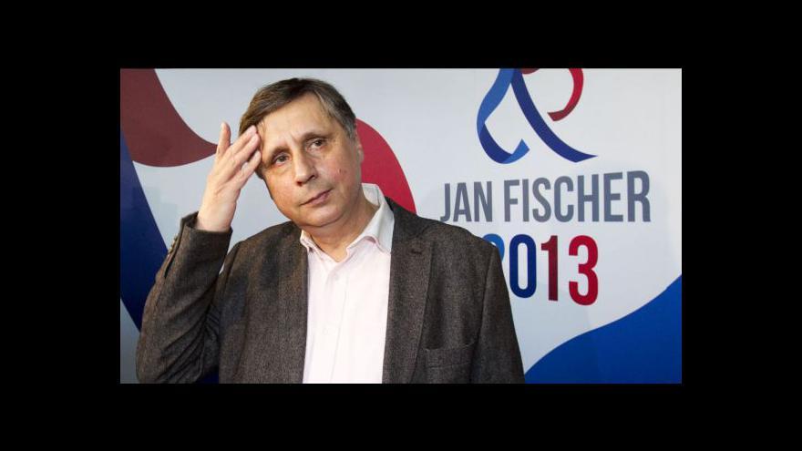 Video Jan Fischer po schůzce s Milošem Zemanem