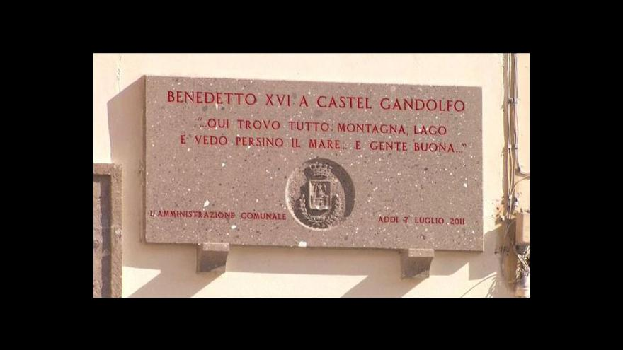 Video Castel Gandolfo se připravuje na příjezd papeže