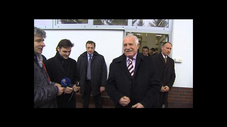 Video Rozhovor Václava Klause s novináři