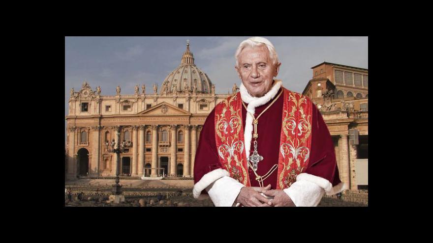 Video Papež Benedikt XVI. oznamuje svůj odchod