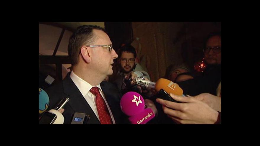 Video Premiér Petr Nečas odchází od Miloše Zemana
