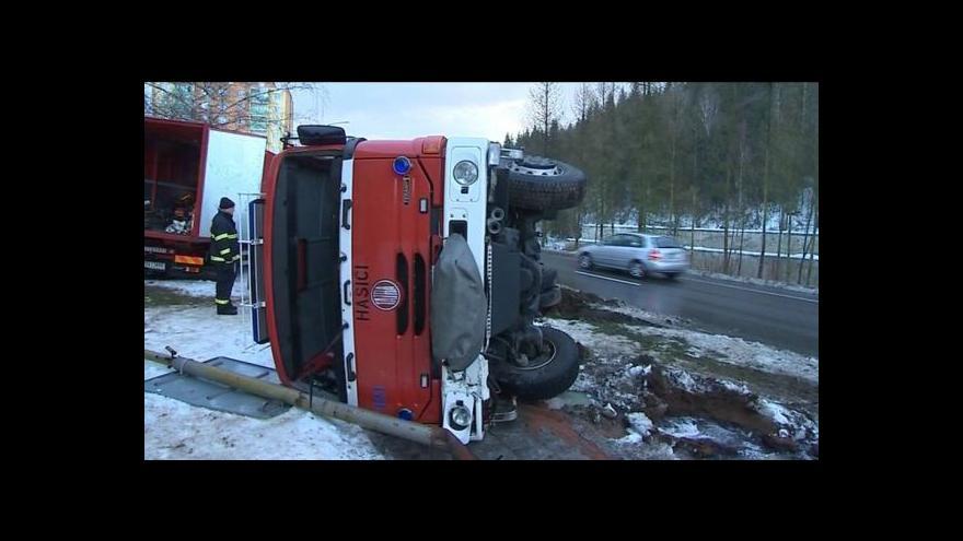 Video No comment: Nehoda vsetínských hasičů