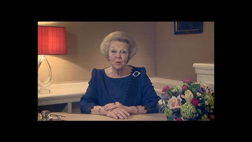 Video Královna Beatrix v dubnu abdikuje
