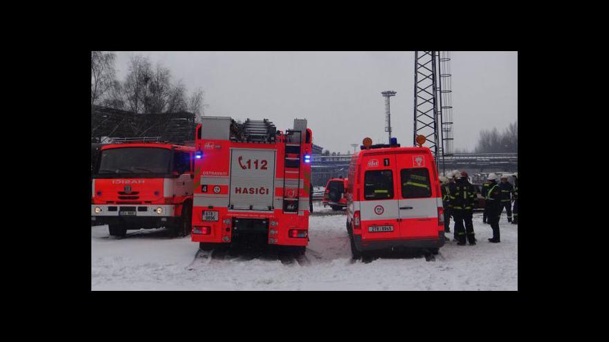 Video Zásah HZS MSK v ArcelorMittal Ostrava