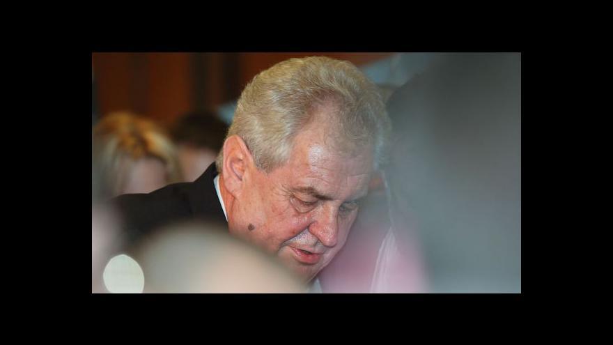 Video Miloš Zeman vytyčil některé momenty svého mandátu