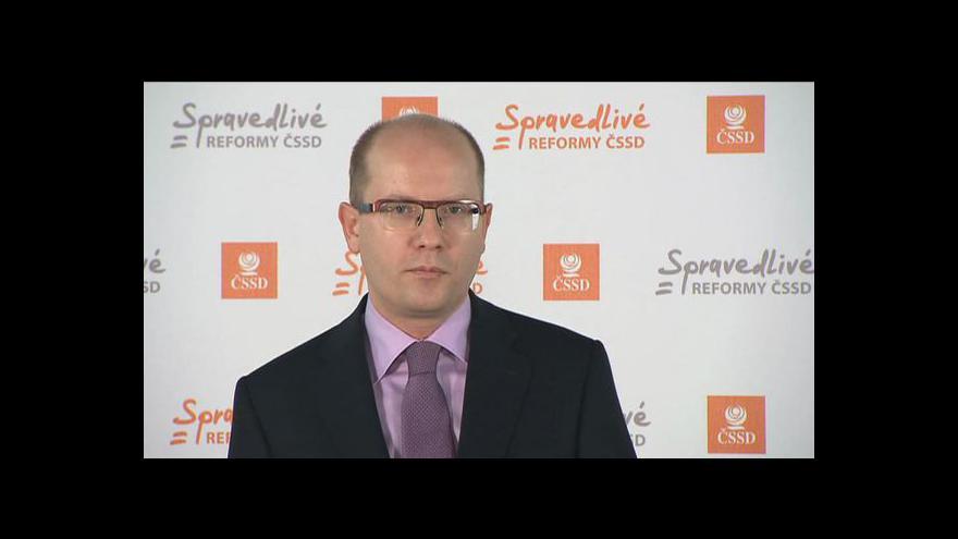 Video Bohuslav Sobotka k výsledku volby