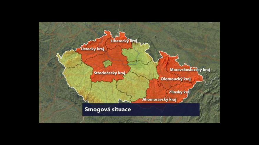 Video Smogová situace už v sedmi krajích