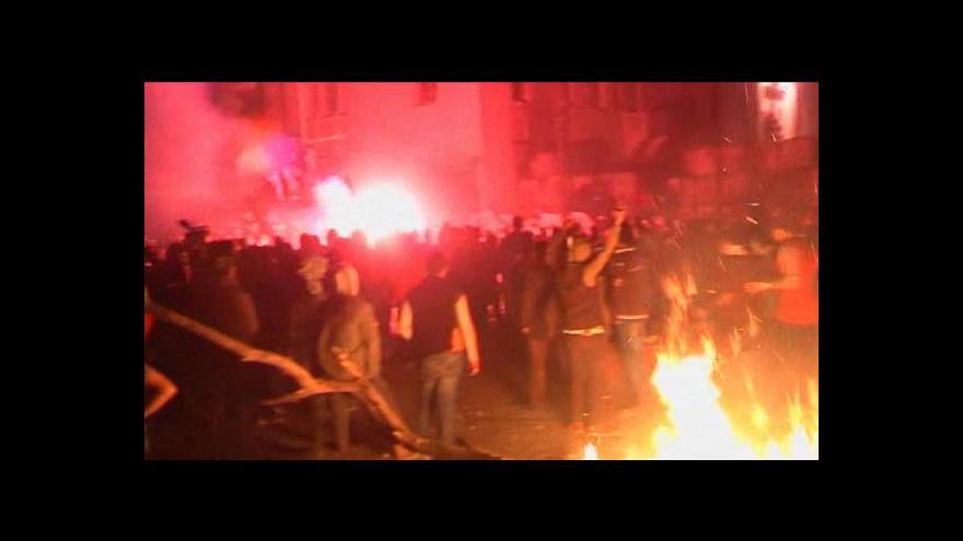 Video Druhé výročí revoluce: demonstrace a oběti