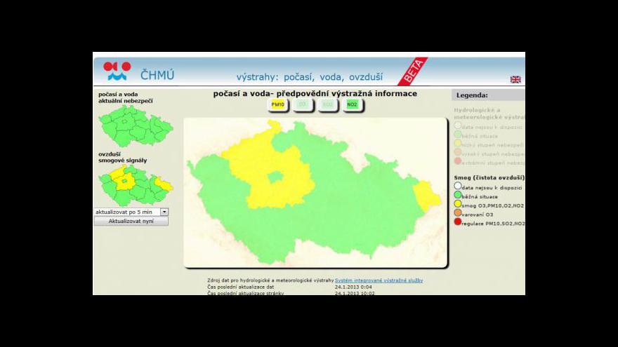 Video Česko trápí smog