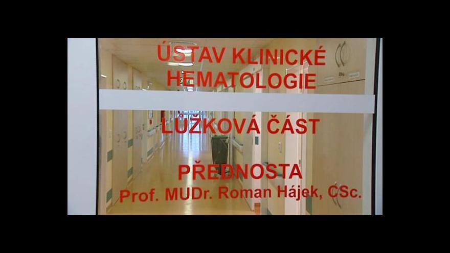 Video Ostravská nemocnice otevírá lůžkovou hematologii