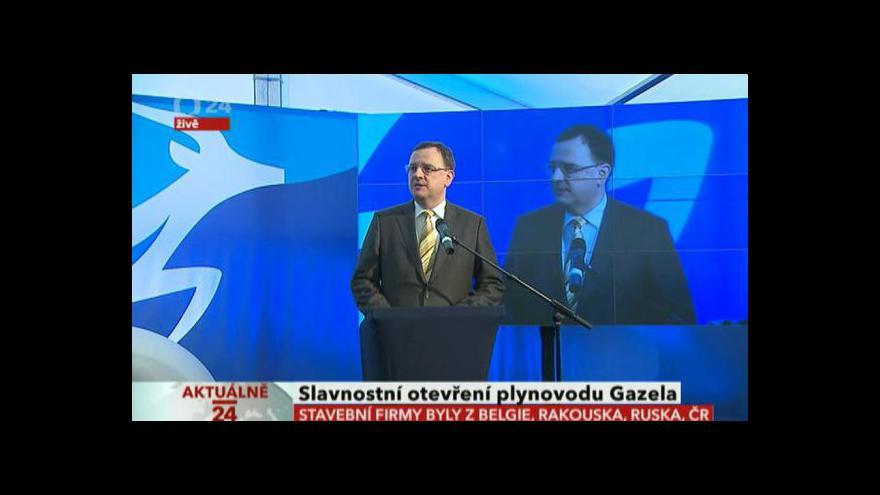 Video Slavnostní otevření plynovodu Gazela