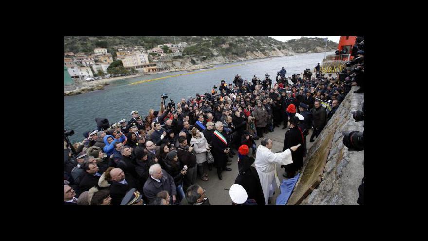 Video Vzpomínka na oběti havárie lodi Costa Concordia