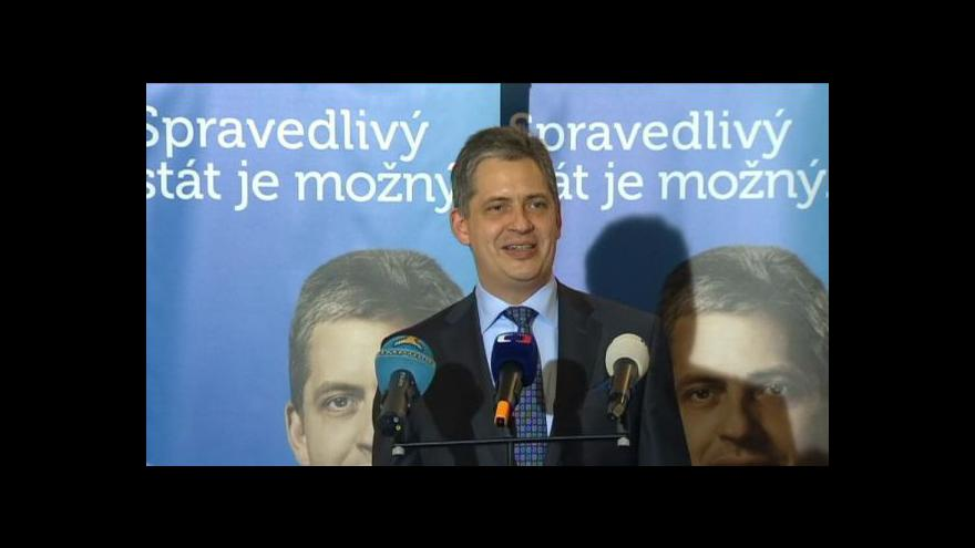 Video Volba prezidenta 2013: Tisková konference Jiřího Dienstbiera