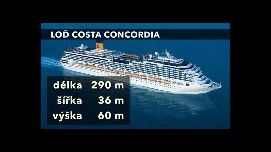 Video Vzpomínka na potopení Costa Concordia