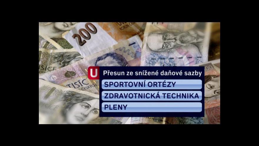 Video Vyšší DPH tématem Událostí