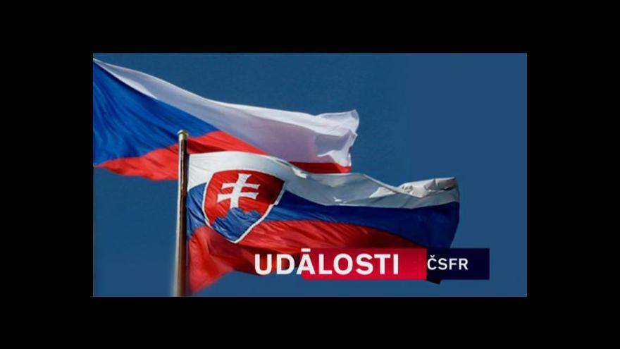 Video Rozpad Československa tématem Událostí