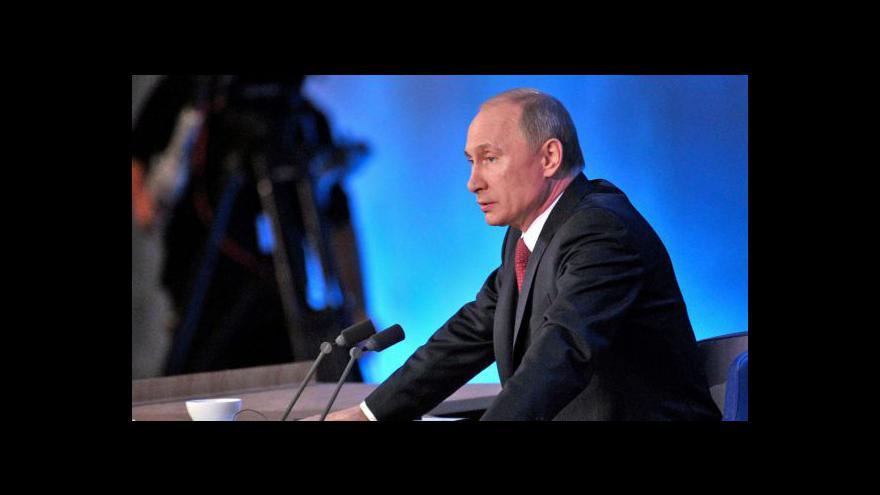 Video Putin odpovídal na otázky novinářů