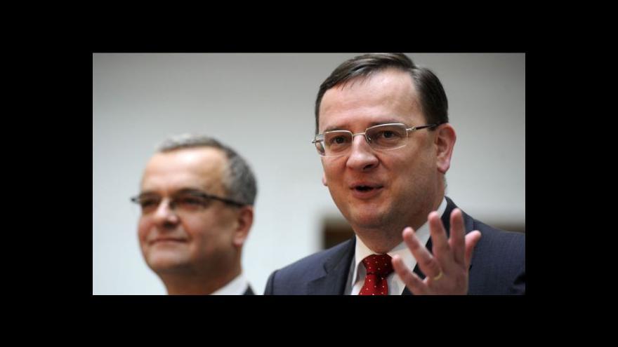 Video Komentář Miroslava Kalouska a Petra Nečase