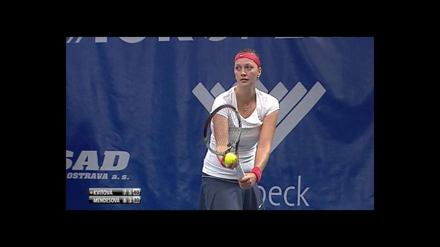 Video Úvod finále tenisové extraligy - výhra Petry Kvitové