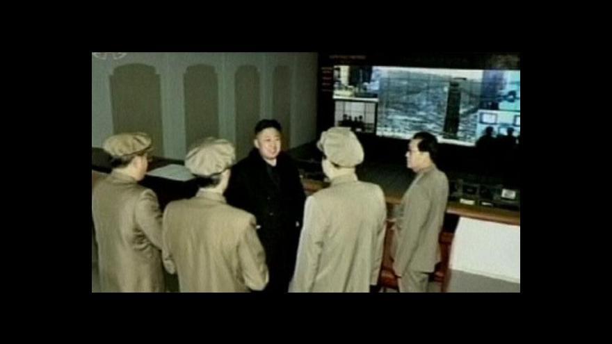 Video Severní Korea oslavuje vypuštění satelitu