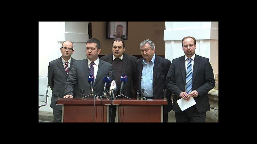 Video Brífink ČSSD k aktuálním politickým otázkám