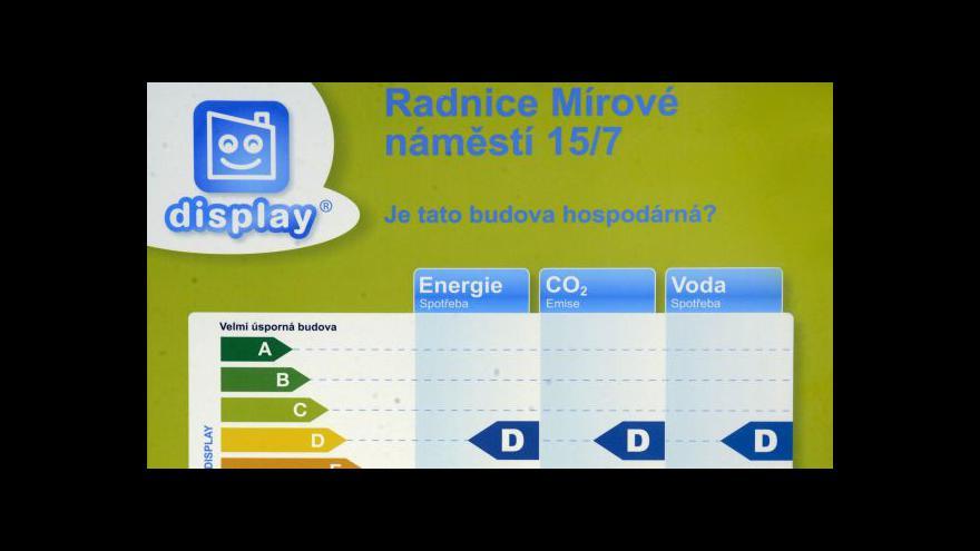 Video Energetické štítky budov tématem Událostí ČT