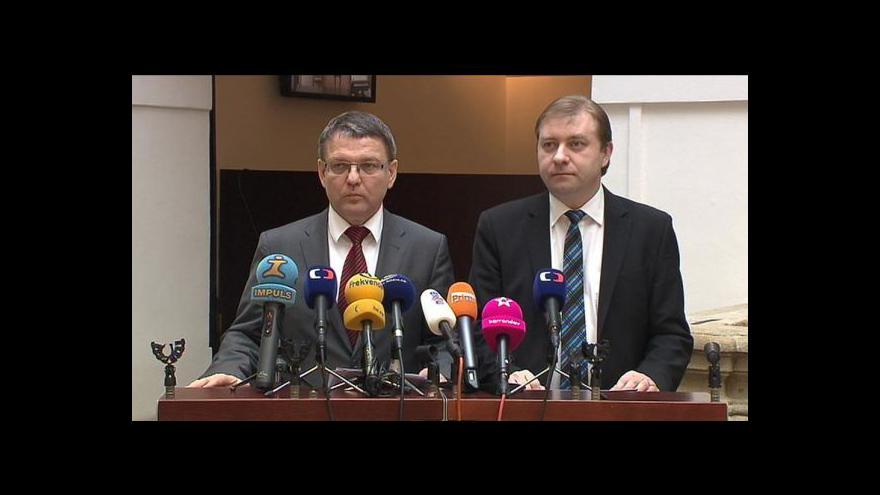 Video Brífink ČSSD ke změnám ve vládě