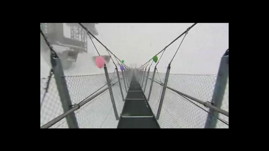 Video Slavnostní otevření nejvýše položeného visutého mostu v Evropě
