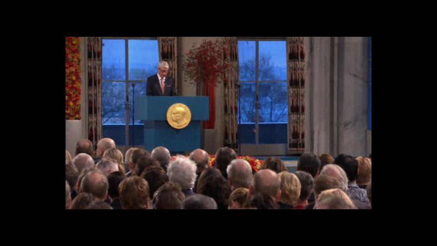 Video Předávání Nobelovy ceny za mír pro EU