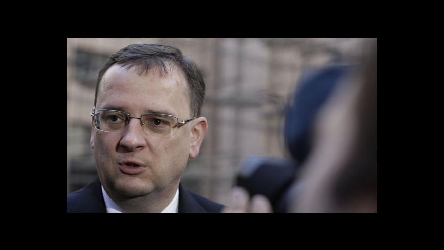 Video Díky za odvahu, přijede říct Netanjahu Nečasovi